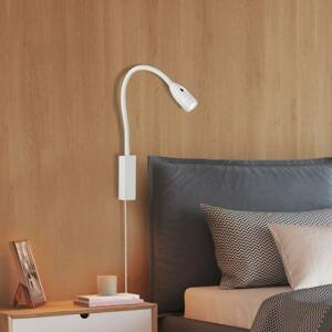 FISCHER & HONSEL Nástenné LED svietidlo Sten ovládané gestami biele