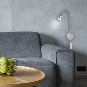 FISCHER & HONSEL Nástenné LED svietidlo Lovi, matný nikel