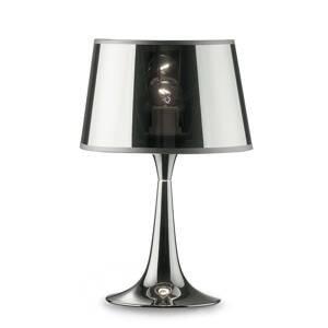 Ideallux Stolná lampa London Cromo výška 36,5cm