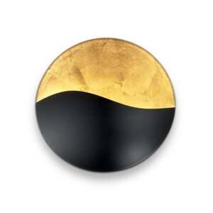 Ideallux Nástenné svetlo Sunrise G9, čierne/zlaté Ø 27,5cm