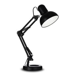 Ideallux Stolná lampa Kelly s kĺbovým ramenom, E27, čierna