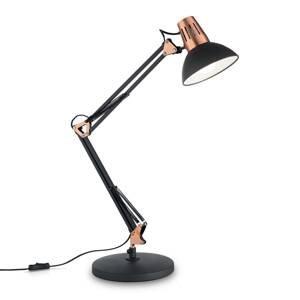 Ideallux Stolná lampa Wally s kĺbovým ramenom čierna/medená