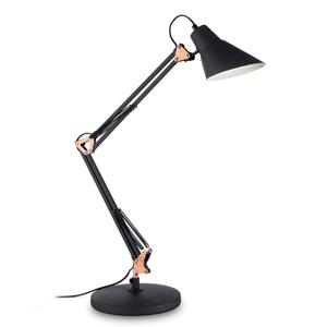Ideallux Stolná lampa Sally, výškovo nastaviteľná, sklopná