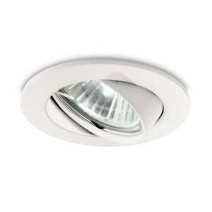 Ideallux Zapustené LED Swing okrúhle, GU10 otočné 3ks biele