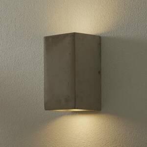 Ideallux Nástenné svietidlo Kool z cementu, výška 19cm