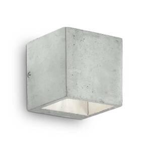 Ideallux Nástenné svietidlo Kool z cementu, výška 10cm