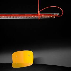 Ingo Maurer Ingo Maurer Tubular závesné LED svietidlo červené