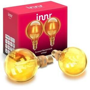 Innr Lighting Innr LED globe E27 filament 2200K 4,2W zlatá 2ks