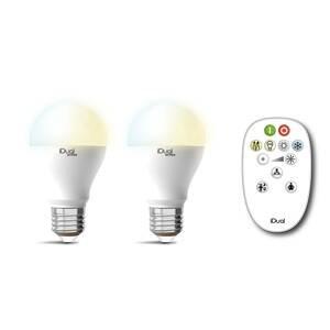 iDual iDual Whites E27 A60 10W 2 ks diaľkové ovládanie