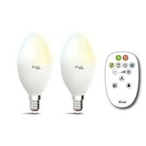 iDual iDual Whites žiarovka E14 P45 5,5W 2ks diaľkové