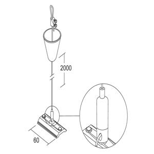 IVELA Ivela zavesenie 2m flexibilný napínač lana biely