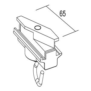 IVELA Ivela adaptér mechanický, s hákom, čierny