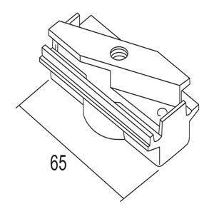 IVELA Ivela adaptér mechanická 3-fázová koľajnica čierna