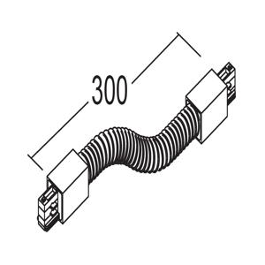 IVELA Ivela flex konektor 3-fázový systém LKM, čierny