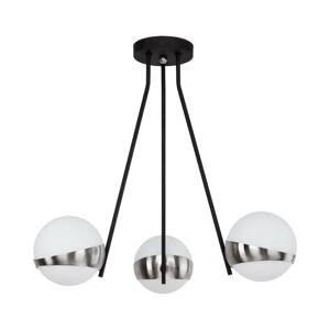 JUPITER Závesná lampa Parcel, 3-plameňová, biela/striebro