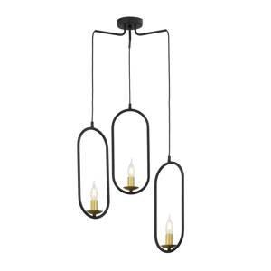 JUPITER Závesná lampa Candle, 3-plameňová, čierna