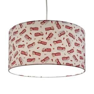 Niermann Standby Závesná lampa Hasiči s textilným tienidlom