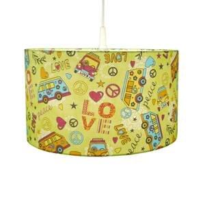 Niermann Standby Textilná závesná lampa Love + Peace