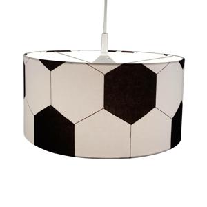 Niermann Standby Textilná závesná lampa Futbal v čierno-bielej