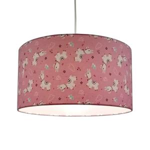 Niermann Standby Textilná závesná lampa Alpaky v ružovej