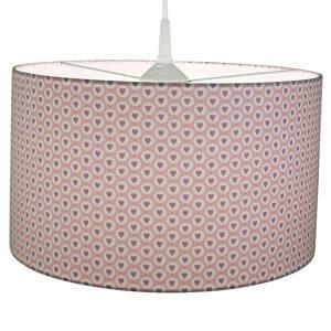 Niermann Standby Látková závesná lampa Srdcia, ružová
