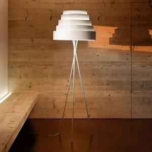 Karboxx Stojaca lampa Babel trojnožka tienidlo biela
