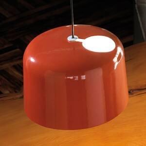 Karboxx Lesklá oranžová keramická závesná lampa Add