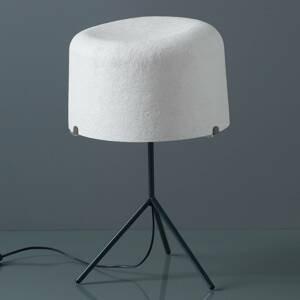 Karboxx Stolná lampa Ola sklenené vlákno biele 53cm