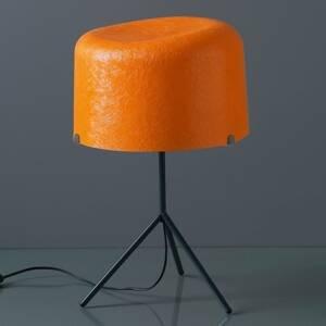 Karboxx Stolná lampa Ola sklenené vlákno oranžová 53cm