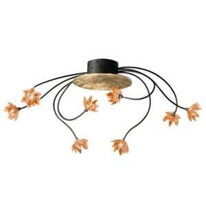 Kögl Stropné svietidlo Fiorella 8-plameňové jantárové