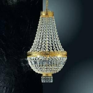 Kögl 24-karátová pozlátená závesná lampa Cupola