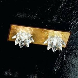 Kögl Fiore stropné svietidlo lístkové zlato krištáľ 2pl
