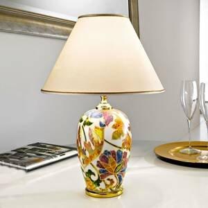 AUSTROLUX BY KOLARZ Stolná lampa Damasco s 24-karátovým zlatom Ø30cm