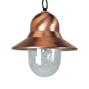 K. S. Verlichting Vonkajšie závesné svetlo Toscane, zelené