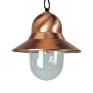 K. S. Verlichting Vonkajšia lampa Toscane medenej farby čierna