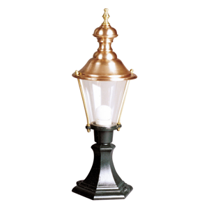 K. S. Verlichting Soklové svietidlo Luuk s čiernym podstavcom