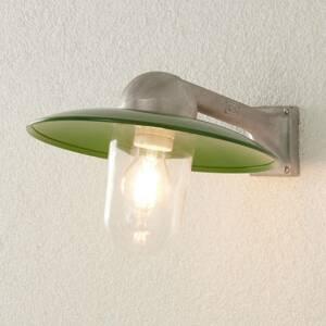 K. S. Verlichting Vonkajšie nástenné svietidlo Stabila alu/zelené