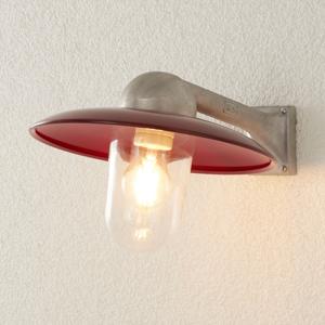 K. S. Verlichting Vonkajšie nástenné svietidlo Stabila alu/červené