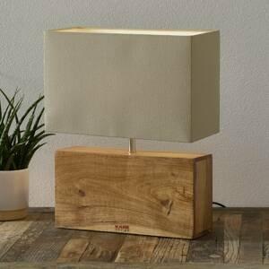 KARE KARE Rectangular Wood lampa s dreveným podstavcom