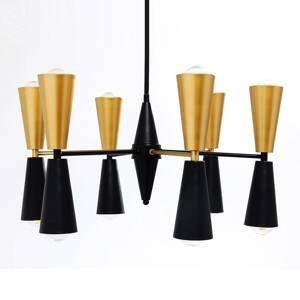 KARE KARE Torch závesná lampa čierno-zlatá