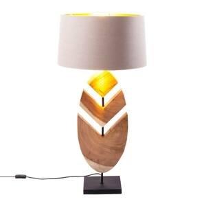 KARE KARE Feather stolná lampa akáciové drevo