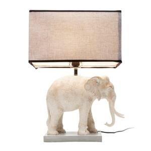 KARE KARE Elephant stolná lampa tienidlo textil