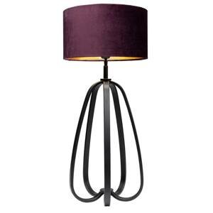 KARE KARE Loop stolná lampa tienidlo textil, fialová