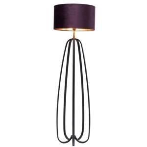 KARE KARE Loop stojaca lampa fialová