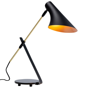 KARE KARE Axe stolná lampa čierna, kontrastné detaily