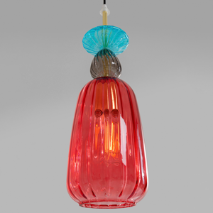 KARE KARE Goblet Colore závesná lampa zo skla, červená