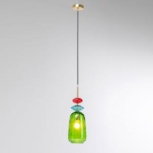 KARE KARE Goblet Colore závesná lampa zo skla, zelená