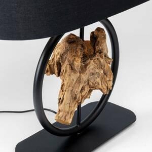 KARE KARE Nature Circle stolná lampa, drevo