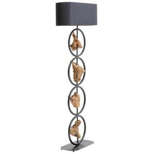 KARE KARE Nature Circles stojaca lampa, drevený prvok