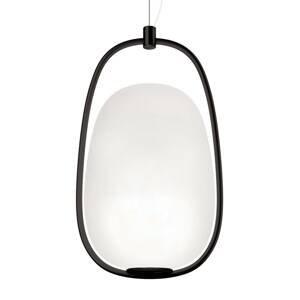 Kundalini Kundalini Lannà závesná lampa, čierna/biela